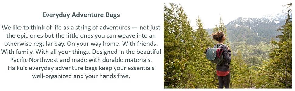 Everyday Adventure Bags