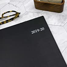 blue sky, enterprise planner, 8.5x11  size, academic year, monthly, 2019-2020, black cover