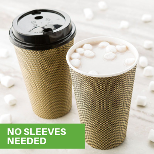 Eliminate the need for separate coffee sleeves by using this double wall insulated coffee cup.