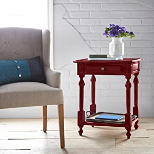 Chalk paint, annie sloan, Joanna gaines, red accent table, wood painting
