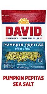 DAVIDs sea salt pumpkin seed kernels