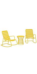 novogratz rocker set;rocking chair set;rocking chair;novogratz rocking chair;outdoor rocking chair