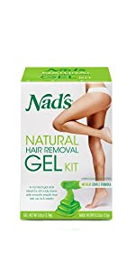 nads hair removal natural gel kit wax
