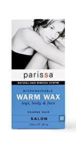 Parissa Natural Warm Waxing Kit Designed for Legs, Body & Facial Areas