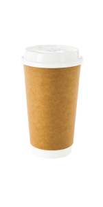 These 16 oz paper coffee cups are insulated & great for taking large coffees to work or in the car.