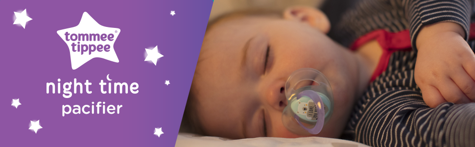 glow in the dark pacifier soother soothie soothy blue night sleep moon stars planets space binky