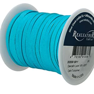 Deerskin Turquoise Lace