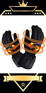 electric rechargeable battery heated gloves cold weather heating sox warm winter thermal handwarmer