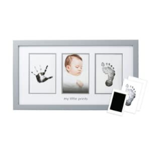gray frame shown with included clean touch ink pad