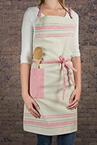 stripe apron, kitchen apron, women apron, farmhouse apron, cooking apron, baking apron
