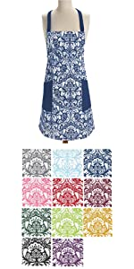 print apron, women apron, apron for women, kitchen apron, apron with pockets, adjustable apron