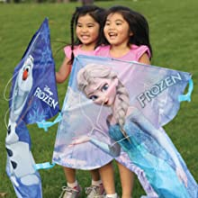 Wind N Sun - Two Girls Holding the BreezyFliers Frozen Kites