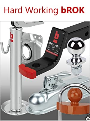 bROK Professional trailer and Towing products ball mount hitch lock receiver jack winch coupler