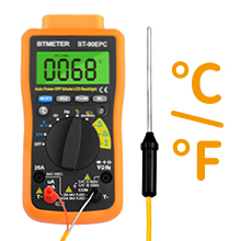 Multimeter with thermometer