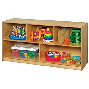 Wooden storage shelving unit