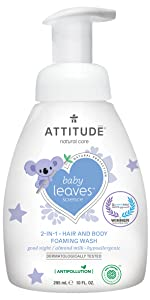 almond milk baby leaves foaming wash