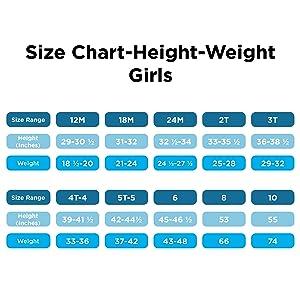 size chart - girls
