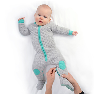 sleepsie quilted pajamas PJs diaper change easy romper pajamas baby girl boy unisex footed