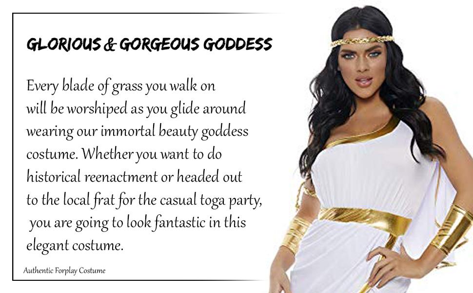 Glorious goddess costume for woman