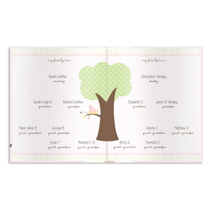lil peach birdie baby book comes with adorable fill-in pages