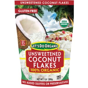 Let's Do Organic Unsweetened Coconut Flakes