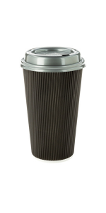 Choose from large paper coffee cups in stylish colors and finishes to take your morning coffee to go