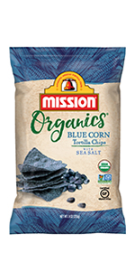 Mission Organics Blue Corn Tortilla Chips