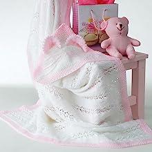Bernat Baby Yarn White Blanket