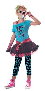 Valley Girl, 1980's, 80's, Eighties, Girl's Costume, Decade Costume, Madonna, Cyndi Lauper,