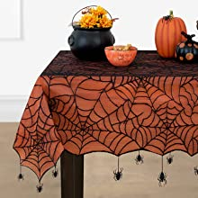 Elrene Home Fashions Crawling Halloween Tablecloth