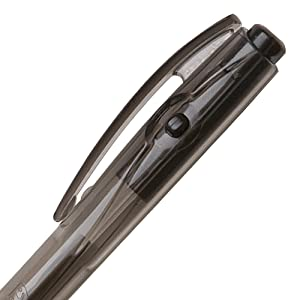 BIC BU3 Grip Retractable Ball Pen - Side-Click Retraction for Convenience