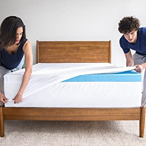 Revel all climate cooling gel memory foam mattress topper sleep