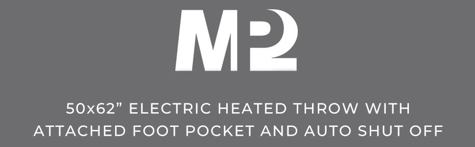 electric heated throw with foot pocket