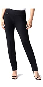 Easy Fit Narrow Leg Pant for Women Wear to Work Slimming Stretch Knit Fabric Fashion Comfort