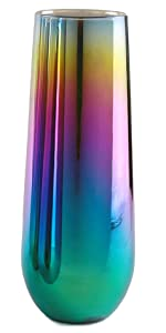 Rainbow fusion champagne flutes set wine glasses drinkware