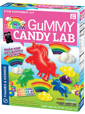 unicorns, rainbows, clouds, gummy candy, gummies, science, cooking, delish