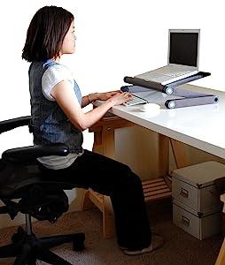 adjustable height angle ergonomic laptop cooling stand riser mount holder lap desk