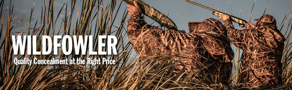 wildfowler, wildfowler concealment, wildfowler outfitters, waterproof camo, windproof camo