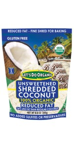 Let's Do Organic Unsweetened Reduced Fat Shredded Coconut