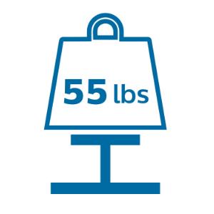 55 lb capacity