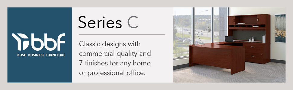 bbf,bush business furniture,series c,mahogany,contemporary,bush,bush industries
