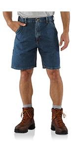 mens shorts, work, workwear, denim