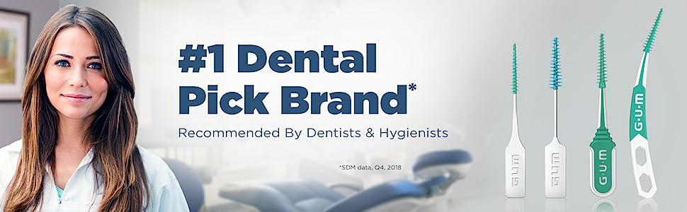 Dentist Recommended, Gum Brand, Gum Soft-picks, dental picks