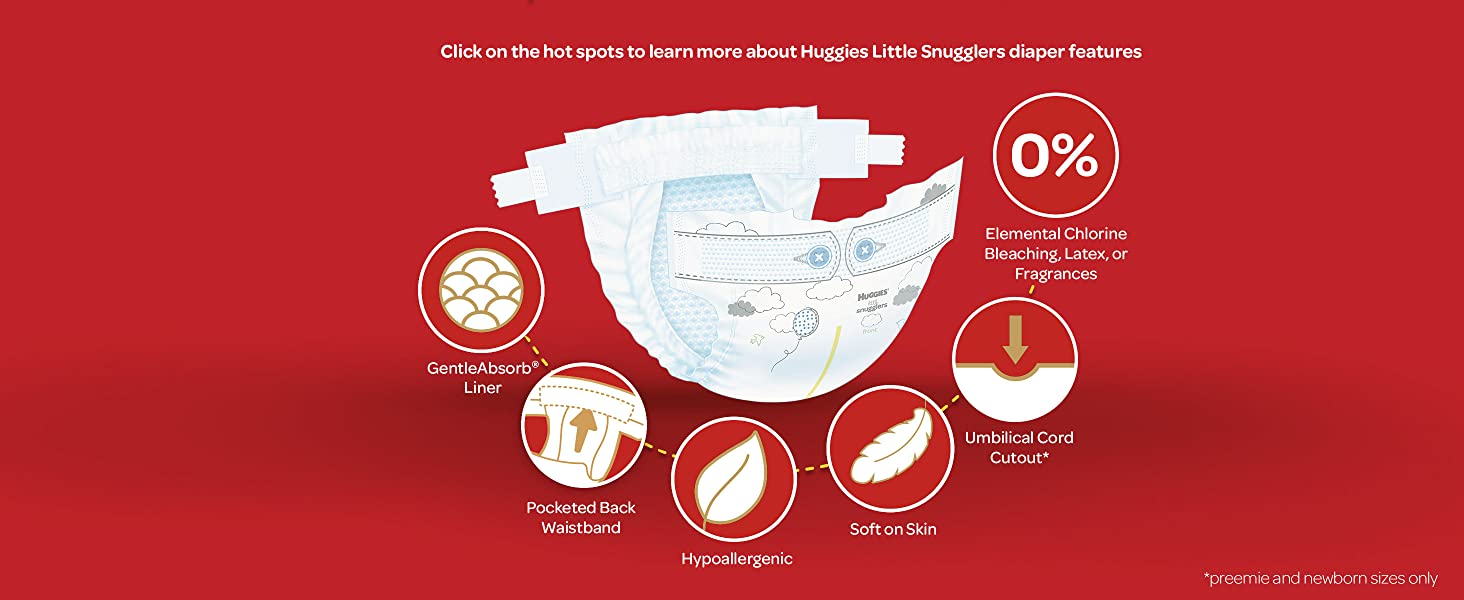 Huggies Little Snugglers: Diapers Designed to Help Keep Baby's Skin Clean and Healthy