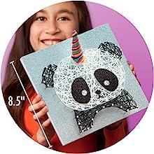 easy string art room décor complete craft kit panda mythical magic glitter unicorn art
