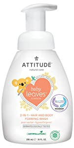 pear nectar baby leaves foaming wash
