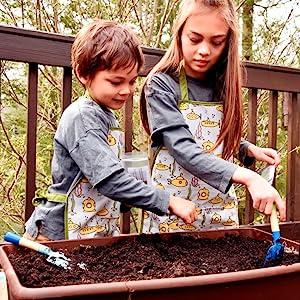 urban infant little helper apron submarins kids digging in garden
