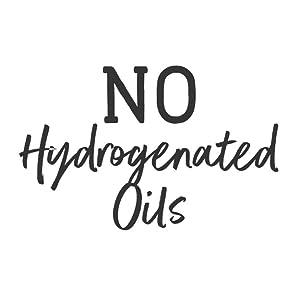 no hydrogenated oils