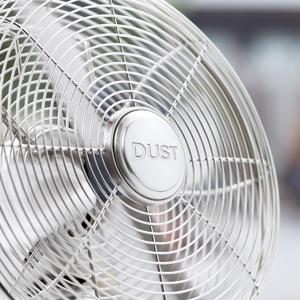 silver rotary fan