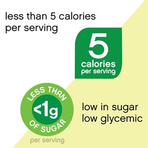low glycemic less than 5 calories per serving low in sugar
